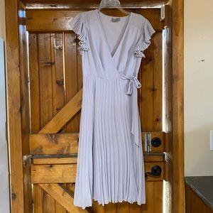 ASOS Wrap Style Midi Dress in Dusty Lavender